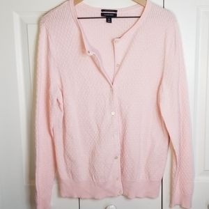 Land's End Supima Cotton Textured Button Cardigan